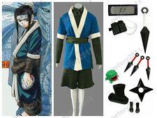 Custom-made Naruto Anime Haku Cosplay Costume Halloween Set