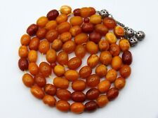 Old, Real, Antique, Huge, Natural Amber Necklace / Rosary / Prayer Beads / 41 G