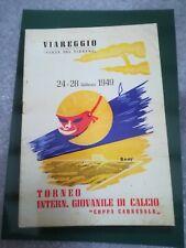 CARTOLINA VIAREGGIO 60 coppa CARNEVALE 2008 calcio football postcard Cup vintage