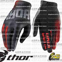 Thor 2016 Void Gloves Bend Black Red Adult Medium Size 9 Motocross Enduro ATV