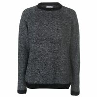 Lee Cooper Mens Contrast Crew Neck Knit Jumper Sweater Pullover Long Sleeve