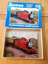 Vintage Thomas the Tank Engine James Wooden Jigsaw Puzzle Michael Stanfield 1984