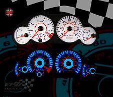 PEUGEOT 206 1.6 GTI Tachimetro Cruscotto personalizzato Illuminazione Interna Lampadina UPGRADE Quadrante Bianco