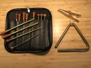 Grover Pro Bronze Series Triangle 5 in. with Beaters And Holder - Used