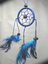 Dark Blue Dreamcatcher, Handmade, Hand on the rear view mirror, Window, Fan
