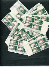 {BJ STAMPS} #1232  100 mint stamps, 25 NH Plate Blocks. West Virginia 1963