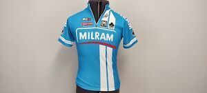 SMS Santini Milram Mens Cycling Shirt Jersey Short Sleeve Blue Size 50 - XL