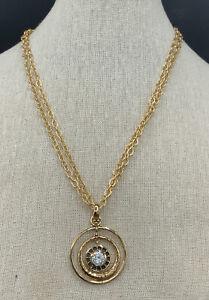 Barse Circle of Light Necklace- Double Strand- Quartz Crystal- Bronze- NWT