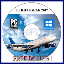 FLIGHT SIMULATOR 2017 PLANES HELICOPTER 4 WINDOWS 10 8 7 PC + FREE DVD CONTENT