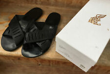 ancient greek sandals Thais Column In Black Leather Size 39