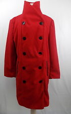 Harve Benard Double Breasted Peacoat Shawl Collar Coat Red 2X  #3001