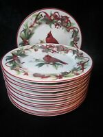 BETTER HOMES & GARDEN EXCLUSIVELY BY HOME INTERIORS RED CARDINALS BIRD 10 SALAD