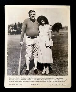 """1930 Babe Ruth Type IV Photo used For Mrs Ruth Book """"The Babe & I"""" Thick Glossy"""