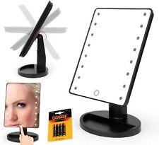 Specchio da tavolo a led illuminazione per make up trucco donna regolabile 180'