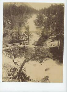 Vintage 8 x 10 Photo Pont D'Espagne Chutes D'Eau, En Français Pyrénées
