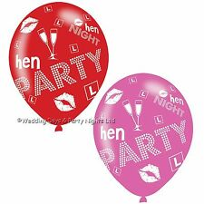 12 Red Pink Champagne Glass Hen Night Helium/Air Balloons Party Decorations 11""