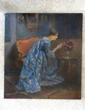 Ölgemälde auf Leinwand Dame im Salon um 1900 unbekannter Künstler