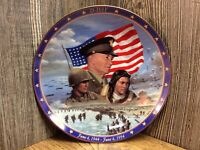 Vintage Bradford Exchange Collectors Plate Of Military Battle Of D-Day A7