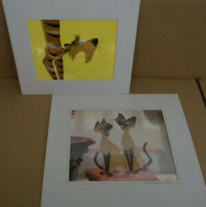 2 DISNEY COLLECTABLES DEAL, RAJA (HAND PAINTED)  CEL + SI & AM (ORIGINAL PRINT)