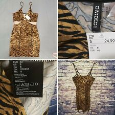 DIVIDED H&M Tiger Print Slip on Dress~US 8~EUR~CA 8~MX 8~CN 170/92A~NWT~MSRP $25