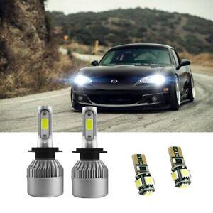 Mazda MX-5 MK3 NC H7 501 55w Super White Xenon Low//LED Trade Side Light Bulbs