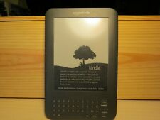 Amazon Kindle 3 Keyboard 4GB, Wi-Fi, Model #D00901 - Dark Gray Tested 50+ books