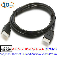 10pcs 6FT HDMI Cable v1.4 3D High Speed with Ethernet Full HD 1080p PS4 Blu-Ray