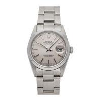 Rolex Datejust Auto 36mm Steel Mens Oyster Bracelet Watch 16200