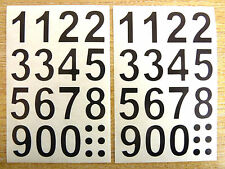 25mm (1 inch )  Black Sticky Vinyl Numbers Stickers Self-Adhesive Plastic Labels