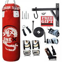3 ft 13 Pcs Boxing Training Bag Gym Fitness SET with FREE CHAIN WALL BRACKET