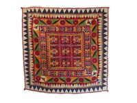 Vintage Kutch Banjara Tribal Hand Embroidery Wall Hanging Tapestry Chakla