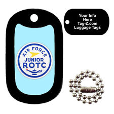 Military Dog Tag - Air Force ROTC Patch - LUGGAGE TAG - Tag-Z Dog Tags