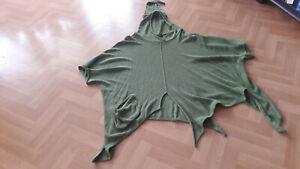Designer-Zipfelpullover Gr.2 (44/46) BARBARA SPEER in kräftigem maigrün