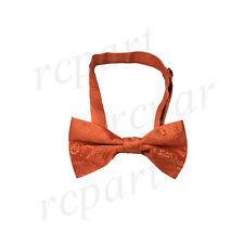 New KID BOY'S Polyester paisley Pre-tied Bow tie Orange formal wedding