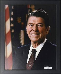 """President Ronald Reagan Official Portrait Photo (Size: 9"""" x 11"""") Framed"""