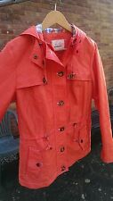 Marks and Spencer Coral / orange Storm wear rain jacket coat 12