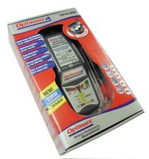 NEW OPTIMATE 4, CANbus BMW  READY BATTERY CHARGER & TESTER + DIN LEAD