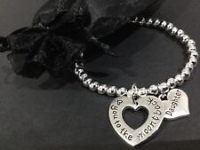 Love You To The Moon And Back Daughter Stretch Beaded Bracelet Bijoux Jewellery
