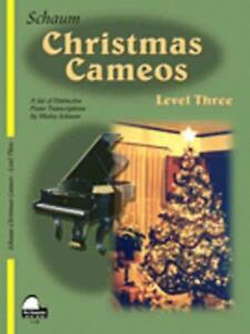 SCHAUM CHRISTMAS CAMEOS LEVEL 3 MUSIC BOOK PIANO EARLY INTERMEDIATE NEW ON SALE
