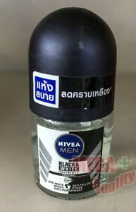 Nivea Invisible MEN Black and White Clear Roll On Deodorant Antiperspirant 12ML