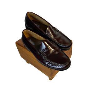 Dexter USA Penny Loafer Burgundy Moc Toe Leather Slip On Men Shoes Size 10.5 M