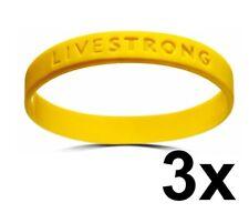3x Lance Armstrong Livestrong Armband L / XL für Herren Lifestrong Band Männer