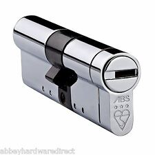 Avocet ABS 3 Star High Security  Euro Cylinder UPVC Anti Snap Sold Secure Std