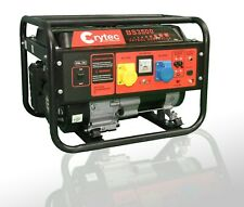 CRYTEC Portable Petrol Generator Electric - 110/230V 3.5KW Quiet Camping Power