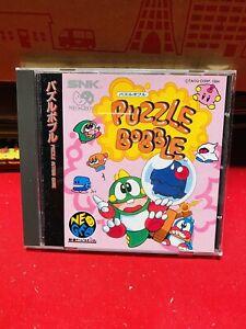 NEO GEO CD PUZZLE BOBBLE SNK JAP PERFETTO