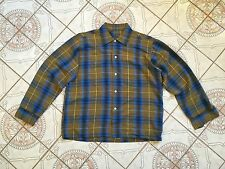VTG 1950'S RAYON SHIRT SHADOW PLAID ARROW CHEVELLA ROCKABILLY Size XL