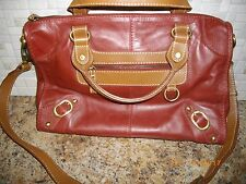 NINO BOSSI PURSE WOMENS RED PURSE WITH ARM STRAP AND HANDLES