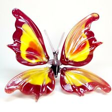 Glass Figurine Butterfly. Murano Art. Home Decor Handmade Insect OOAK. VIDEO