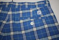 FootJoy Madras Golf Shorts (32 x 9.5, Blue Plaid, Checks)