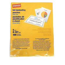 Staples Laminating Pouches 5 Mil Letter Size Thermal 9 X 115 100 Pouches